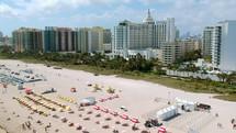 aerial view over South Beach Miami, Florida