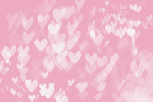 pink heart shaped bokeh lights