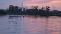 lake water at sunset