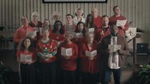 Christmas choir singing