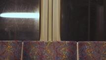 windows of a subway train