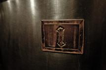 number 1 placard on a door
