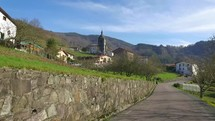 Driving through the countryside near San Sebastian, Spain.  Basque Country