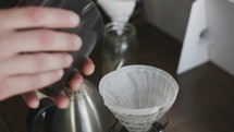 coffee grounds to be brewed
