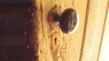 doorknob on an old door