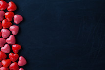 red and pink heart shaped candy border