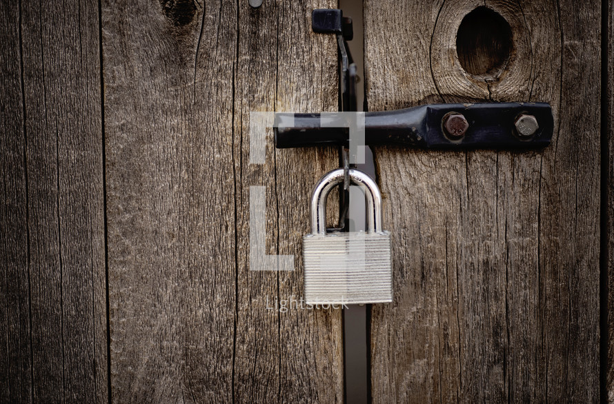 lock on a gate