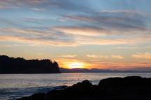 Salt Creek Recreation Area at sunset