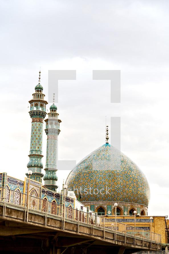 ornate mosque in Iran