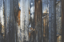 weathered wood fencing