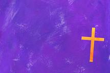cross on purple
