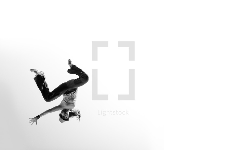 woman flipping in the air