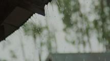 rain falling on a roof in Kenya