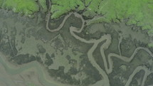 aerial view of topography below