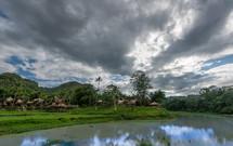 village along a river in Toraja