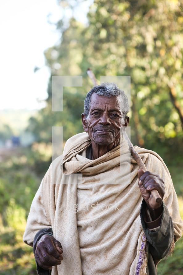 elderly shepherd