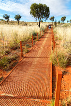a metal trail through the outback