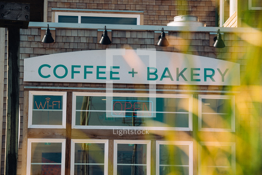 Coffee and Bakery sign