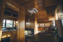 kitchen in a camper