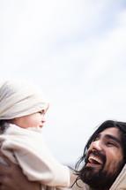 Jesus comforting a child