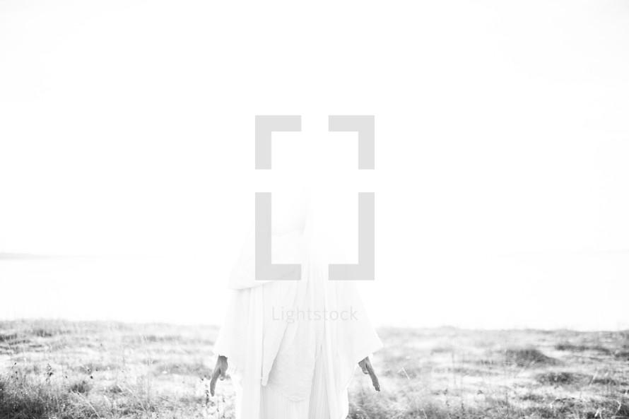 Jesus in white