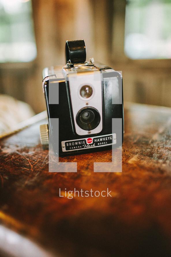 antique box camera