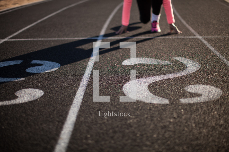 runner at the staring line