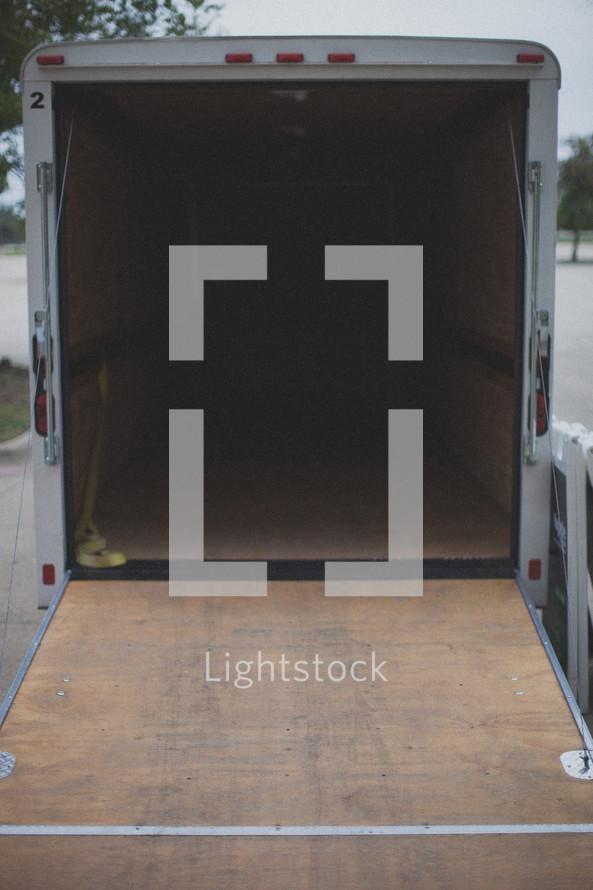 Empty equipment truck.