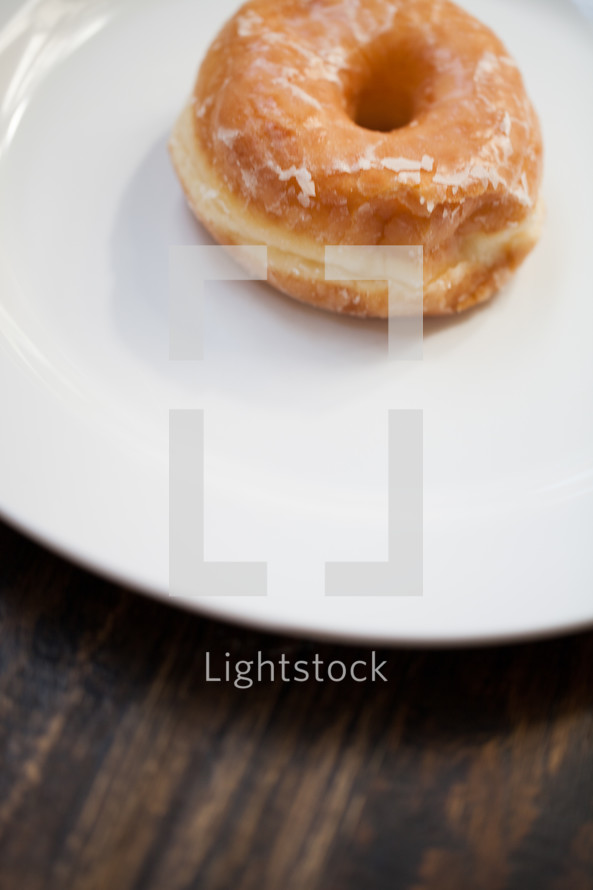 donut on a plate