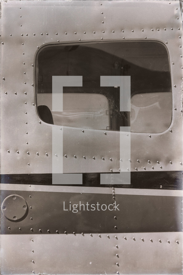 window of an old plane