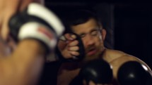 boxing in slow motion