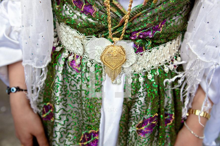 Kurdish girl dressed wedding