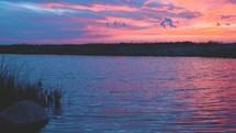 River at sunset (slow motion, 24fps)