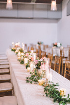 VIP set table at a wedding reception