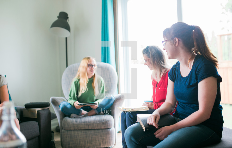 young women at a Bible study