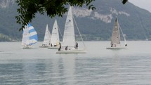 sailboats on a lake in Switzerland