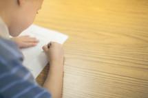 boy child coloring