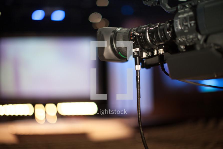 video camera in a church
