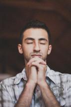 Man praying.