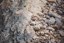 Pile of natural rocks.