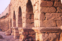 Arches of an ancient Roman viaduct