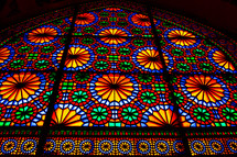 stained glass window in a mosque in Iran