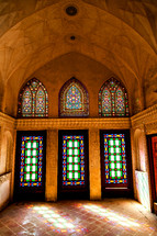 stained glass windows in Iran