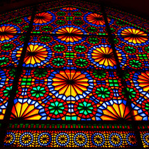 stained glass window background (Iran)
