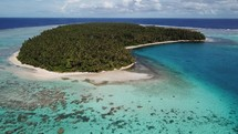 coral reef and island