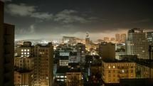 downtown San Fransisco time-lapse sunrise