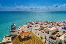 Mediterranean city by the sea