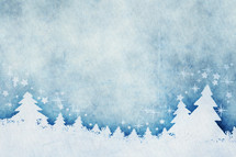 winter trees border