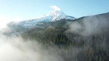 clouds moving over Mount Hood