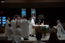 Catholic Eucharist at a wedding